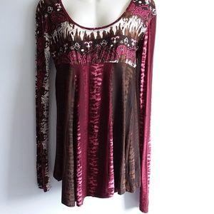 Fashion Fuse Boho Print Knit Top